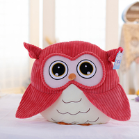 Three Bear Stuffed Lifelike Owl Plush Toys