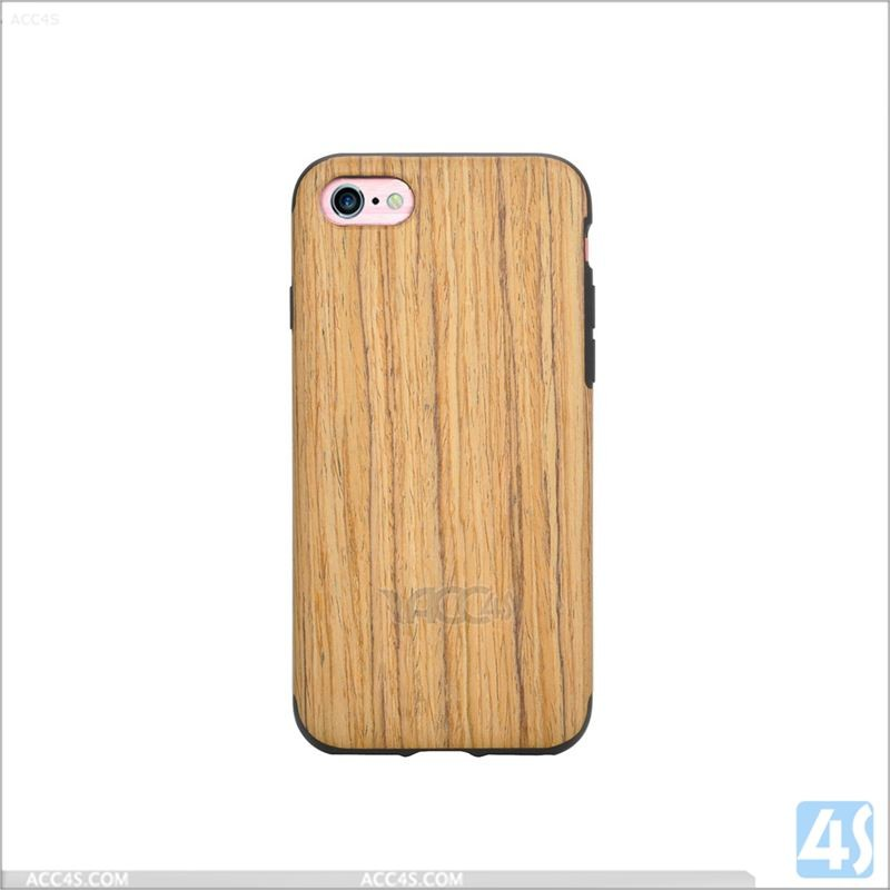 For iPhone 7 mobile phone cover,for iPhone 7 PU+TPU Combo Case with Wood Pattern