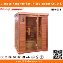 Healthy wooden accent in infrared sauna design room for 3 person