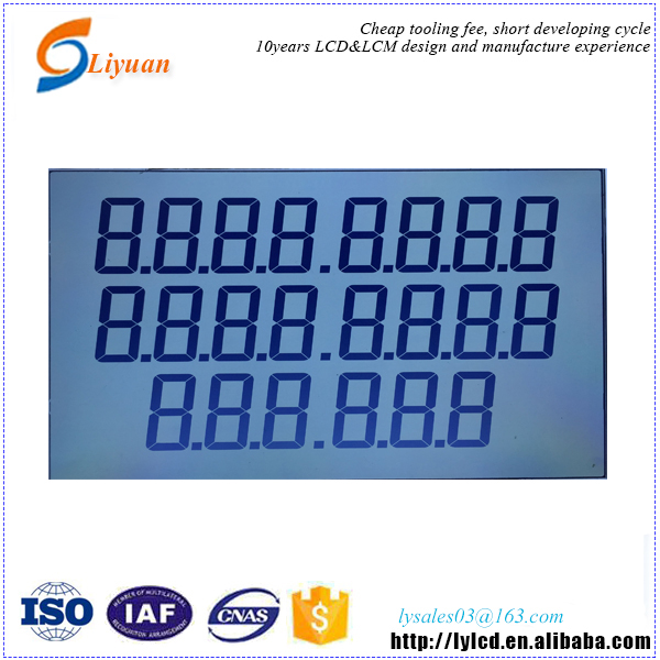 oled character round shape lcd fuel dispenser display