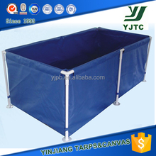 durable PVC Foldable Water fish pond Tank with custom size