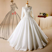 AH107 Closed back duches satin cord lace for nigeria dress pakistani bridal wedding dress sharara gharara muslim bridal dress