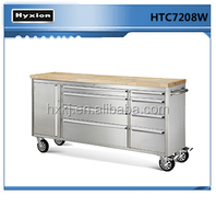 Stainless Steel Customized Industial Tool Cabinet with rubber wood work top