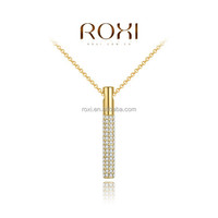 ROXI Fashion 18K Gold Plated Necklace long chain necklace with Crystal Pendant necklace jewelry Manufacturer Chinese Wholesale