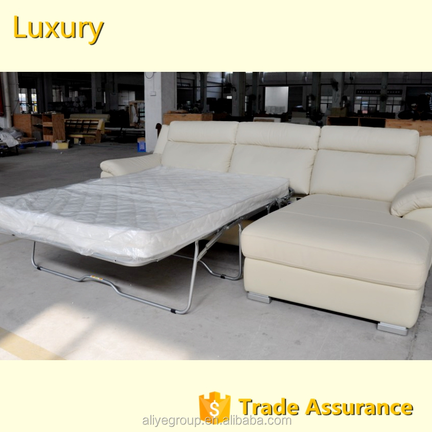 AS109-fashionable genuine modern leather sofa and baroque leather sofa bed made in China