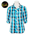 Cotton Design china made business design mens plaid flannel shirts