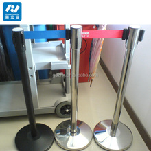 High Quality Stainless Steel Chrome/Brushed Retractable Belt Barrier/Post Used In Bank