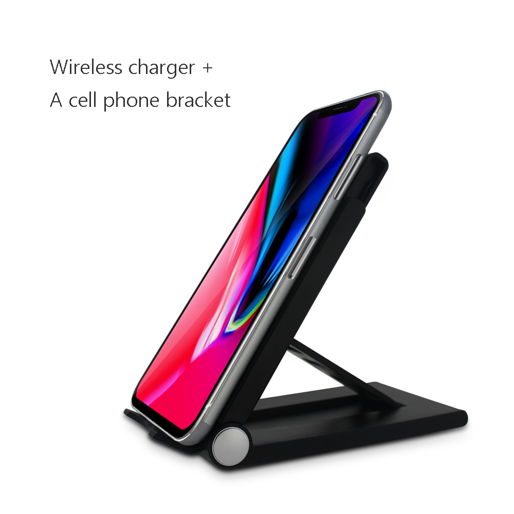 2018 trend product hot selling Multifunction qi wireless charger foldable cell phone stand