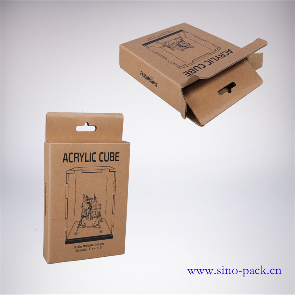 Flat kraft paper box corrugated packaging box toys paper box