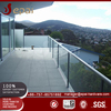 Stainless steel U channel glass handrail railing