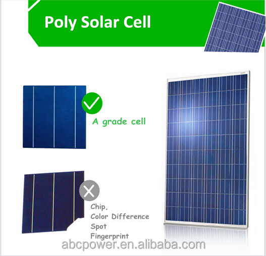 High efficiency poly solar panel 150 watt solar power for home use