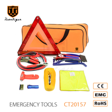 VCANTIGER Auto Car Accessories of Tow Rope And Warning Triangle Emergency Tool Kit Emergency Car Kit Roadside Emergency Kit