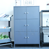 2018 New Design Steel Cupboard Locker Metal Cabinet Shelf With Dividers