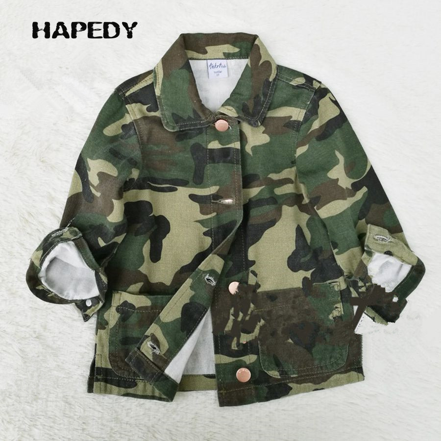 Military Child Jacket Camouflage Casual Bomber Kid Jackets