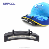 Wholesale most powerful warm white 11 LED Clip-On Caplight/Camping Cap Light