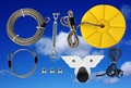 CTSC 95' Exciting Zip Line and Cable Trolley Pulley is equipped with most complete accessories and brake system
