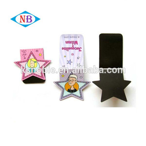 Promotional gift flower magnetic paper bookmarks wholesale