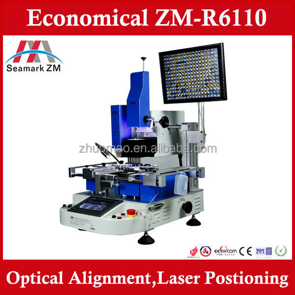 ZM-R6808 upgrade model ZM-R6110 BGA rework station with optical alignment vision system, Rework electronic tools