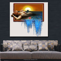 Unframed canvas painting beautiful girls nude photos girls picture sexy oil painting for hotel decoration