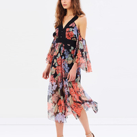 Fashion Loose Women Dress Sleeve Summer Casual Plus Dress Multicolor Flower Print American Design Clothes For Women