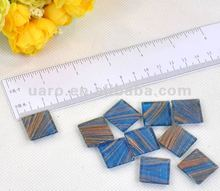 "6""x6"" blue gold-veined glass mosaic for making handicraft"
