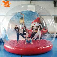 Crazy Christmas Bubble Tent For Photo Events, Display Inflatables Snow Globe Ball, Inflatable Snowball Advertising Decoration