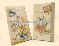 Lily flower paper greeting cards