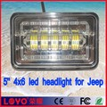 "Good Waterproof!!! 5"" led headlight square led driving light offroad, 5 inch 50W 4x6 led auxiliary light for Jeep"