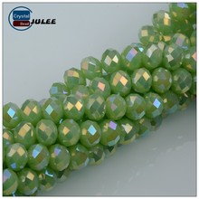Reflective AB faceted rondelle crystal beads wholesale nice beads for jewelry making