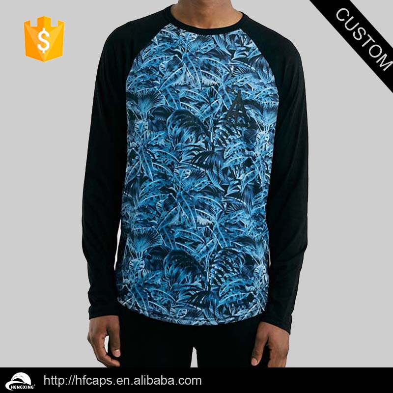 Fashion Men's Wholesale Raglan Camo Long Sleeve Raglan T Shirt
