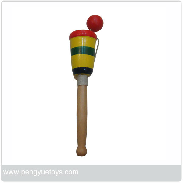 cup and ball wooden toy