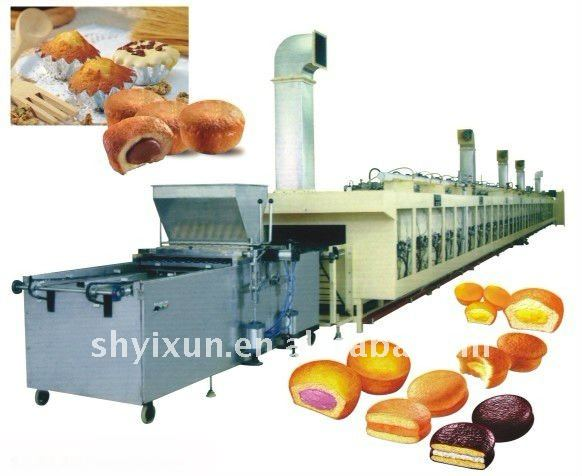 YX full automtic stuffing cake production line