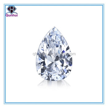 Charming bling white pear shaped cz