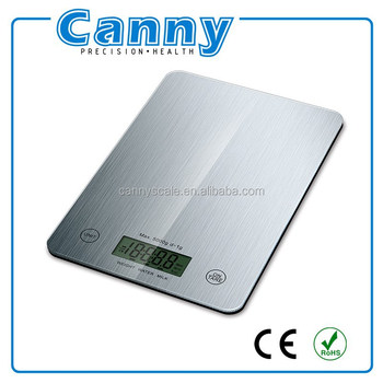 S/S like digital glass kitchen diet weghing scale with brushed printing 11lb