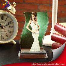 sublimation funny crystal picture digital photo frame photo wedding gift