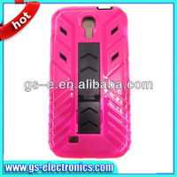 New arrival Robot PC cover for samsung galaxy s4 i9500 ,kickstand holster combo case for S4