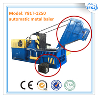 (TFKJ) Y81T-1250 Hand valve horizontal metal old baler hydraulic scrap packing machine CE