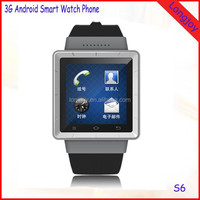 2015 Best Quality 3G Smart Watch Phone S6 MTK6577 Dual Core 512MB RAM 4GB ROM Android 4.0 Watch Phone