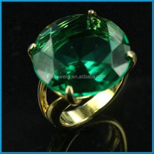 simple design big emerald stone gold ring for men