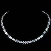 High quality Design from Rome AAA+ Cubic Zirconia Stones Pave Necklace