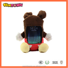famous cartoon mouse type plush toy case for iphone/galaxy s4