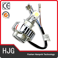 Silver 3 sides motorcycle led headlight