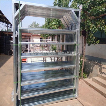 Portable 1.8mHX2.1mW economical pre hot gavanized metal pipe framework fencing panel for keeping livesock/cow/bull