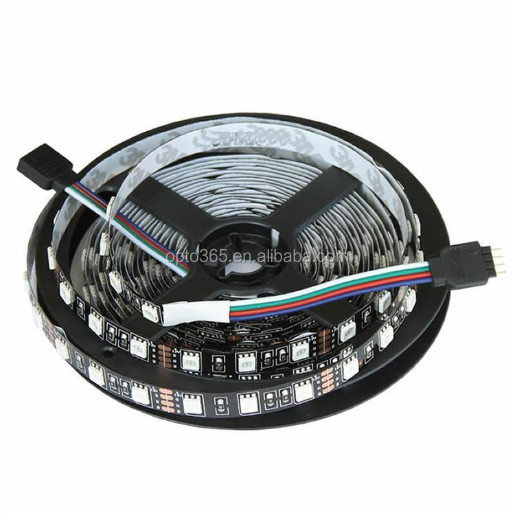 12v waterproof black pcb led strips light tape ce rohs led strip dc 12v rgb led strip 5050RGB
