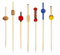 9cm coloered disposable decorative party toothpicks with bamboo material