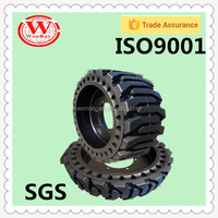 Hot sale anti puncture long life skid steer tire rims10-16.5, wheel loader tires12-16.5 for bobcat