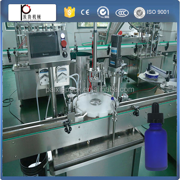 Customized professional manufacturer glass dropper e liquid filling capping machine for glass bottles with CE