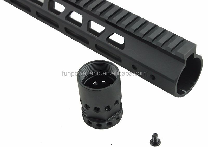 "Funpowerland Tactical Ultra Slim M-LOK Free Float 12"" inch Rail Mount handguard Fit AR15 M4 M16 .223 5.56 With Barrel Nut"