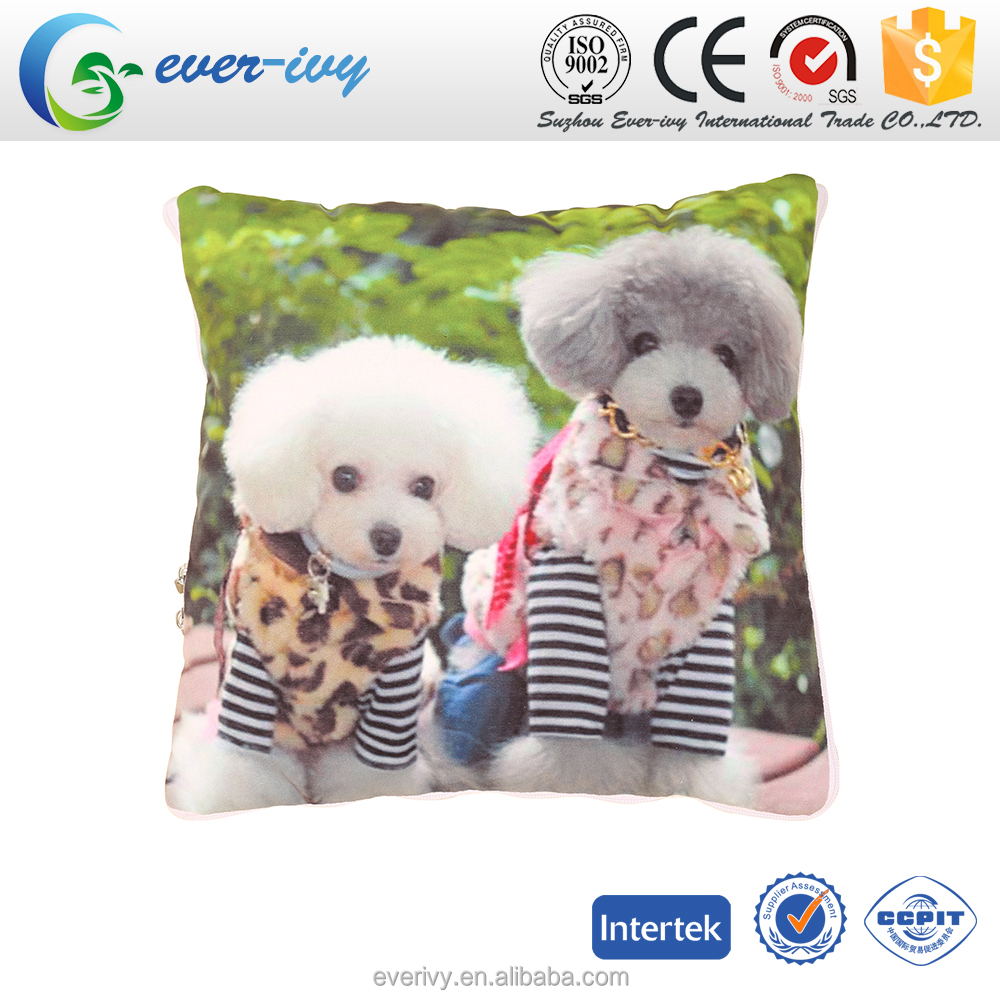 dog printed Quilt Throw Pillow Cushion with zipper