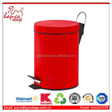 SS trash bin 7L Stainless steel dustbins Foot Pedal Dustbin With factory in BSCI Report